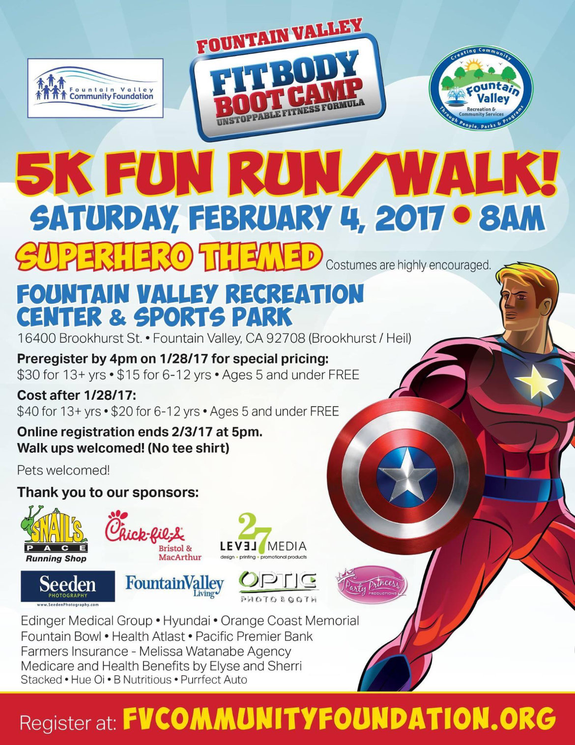 SuperHero 5K Fun Run
